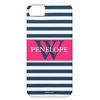 Preppy Stripes Personalized Iphone 5/5 Case