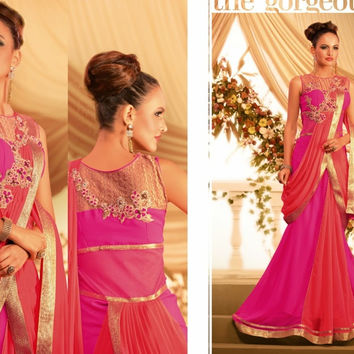 SSRC1058 Designer Indian Ethnic Bollywood Bridal Party Wear Wedding Gown