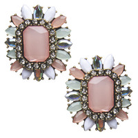 Oversized Stone Burst Earrings | Arden B.