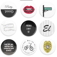 Stranger Things Inspired Pin-Back Buttons