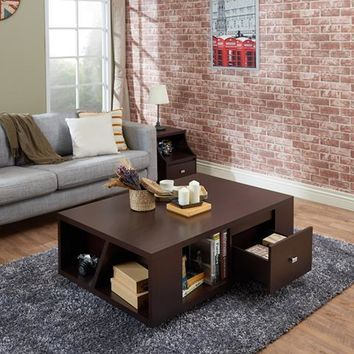 Kenneth Modern Coffee Table in Walnut