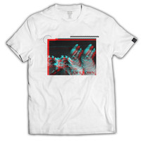 Anaglyph Statue Graphic Tee - Printed on American Apparel Premium Cotton T-Shirt - White - Brand New - Men & Women's