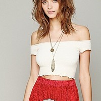 Free People  Smocked Seamless Crop Top at Free People Clothing Boutique