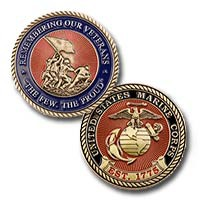"US Marine Corps ""Remembering Our Veterans"" Challenge Coin"