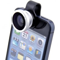 Patuoxun 180 Degree Fisheye Lens for iPhone 4S 5 iPad 2 with Detachable Clip:Amazon:Cell Phones & Accessories