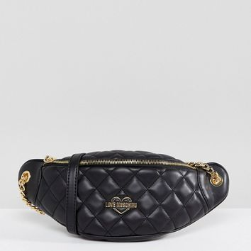 Love Moschino Quilted Bum Bag at asos.com