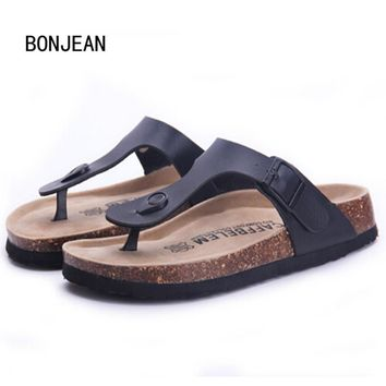 Fashion Women Slippers Flip Flops Summer Beach Cork Shoes Slides Girls Flats Sandals Casual Shoes Mixed Colors Plus Size 35-42