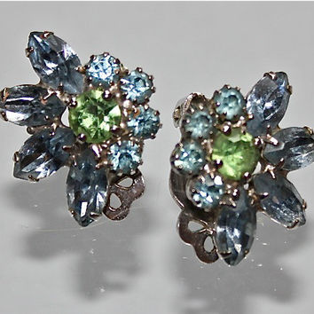 Vintage 60s Weiss Juliana Style Rhinestone Earrings