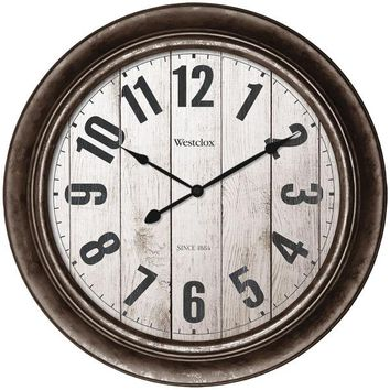 """Westclox(R) 32931AW 15.5"""" Wall Clock with Antique Bronze Finish"""