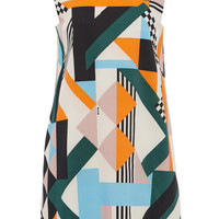 Optical Pique Print Shift Dress