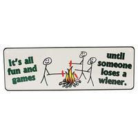 "10.5"" x 3.5"" Tin Sign - It's All Fun And Games"