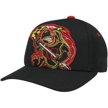 Zephyr Maryland Terrapins X-Ray Fitted Hat - Black