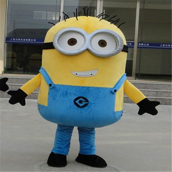 New! Free Shipping! EPE Minion Mascot Costume, Despicable Mascot Costume