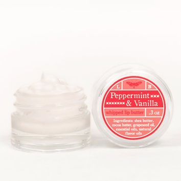 Whipped Lip Butter - Peppermint & Vanilla - Natural Icing for Your Lips