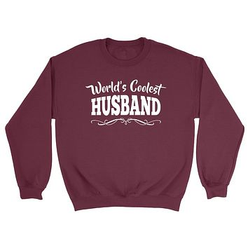 World's coolest husband birthday anniversary gift ideas for him wedding gift couple just married Sweatshirt