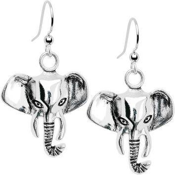 Elegant Elephant Dangle Earrings