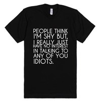 Just Shy-Unisex Black T-Shirt