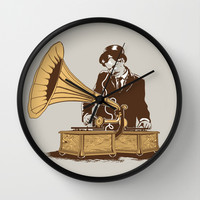 The Future In The Past Wall Clock by Yoshi Andrian