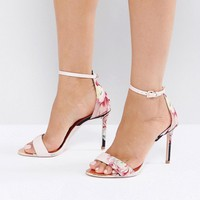 Ted Baker Charv Painted Posie Barely There Heeled Sandals at asos.com