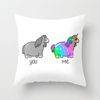 I'm Fab, You're Drab Throw Pillow by Discojellyfish