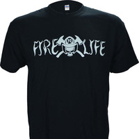 Fire Life Firefighter Black T Shirt