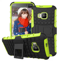 2016 Heavy Duty Armor Capa Kickstand Hybrid Case For HTC One M9 Impact Rugged 2 in 1 Phone Cases Back Cover Shell For HTC One M9
