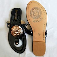 VERSACE Summer Fashion Women Casual Sandal Slippers Shoes Black