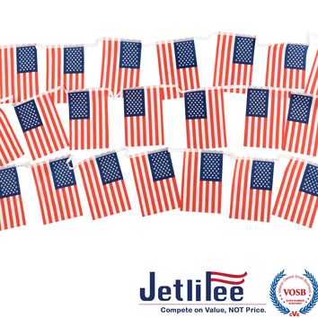 USA American String Pennant Banners, Decorations Supplies For Patriotic Events 4th of July Independence Day,Grand Opening,Olympics,Bar,Party Decorations,Sports Clubs,Restaurants - 30 Ft with 30 PCs