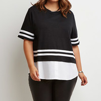 Layered Varsity-Stripe Top