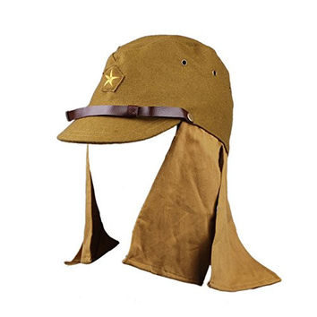 Heerpoint Reproduction Ww2 Japanese Army Soldier Wool Cap Hat with Neck Flap L