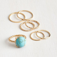 Boho Just A Stone's Glow Ring Set by ModCloth