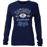 Women's Dallas Cowboys Navy Blue Relic Long Sleeve T-Shirt