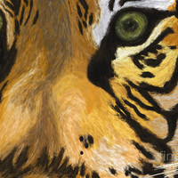 Tiger Eyes Painting by Methune Hively - Tiger Eyes Fine Art Prints and Posters for Sale
