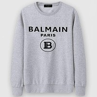 Boys & Men Balmain Casual Edgy Long Sleeve Sweater