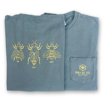 Honey Bees Adult Short Sleeve Pocket Tee