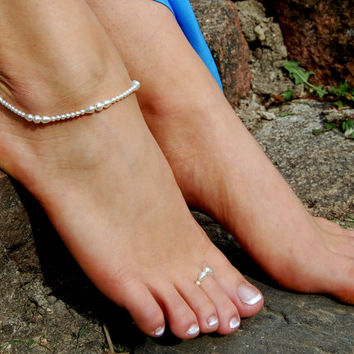 Beaded Anklet, Foot Bracelet, Foot Jewelry,Beach Jewelry, Beach Wedding Accessories, Foot Rings