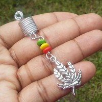 Leaf Dreadlock jewelry, hair accessory, ethnic jewelry