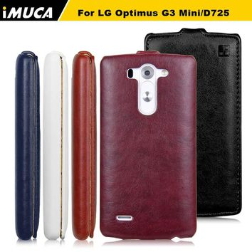 IMUCA For LG Optimus G3 Mini D725 Cases covers Vertical Flip Protective Cases LG G3S Mini G3 D724 D722 D728 D725 PU leather bags
