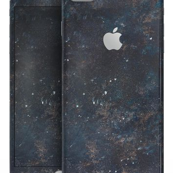Blue and Gold Grunge Splatter - Skin-kit for the iPhone 8 or 8 Plus