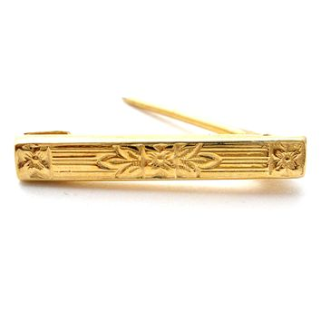 Victorian 10K Yellow Gold Lingerie / Diaper Bar Pin