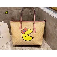 Coach fashion ladies cartoon printed shoulder bag is a hot seller of casual shopping bag #1