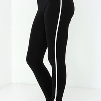 Sporty Spice Ivory and Black Leggings