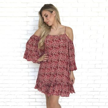 Carol Relaxation Floral Shift Dress