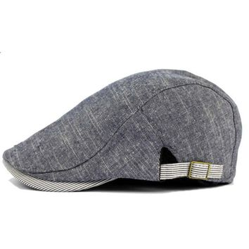 New Fashion Classic Retro Berets Cap For Men Spring Summer Boinas Gentleman Caps With a Straight Visor Males Hats Ajustable