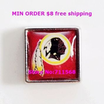 Washington Redskins Floating Charms National Football League Charm For Memory Glass Locket Accessories