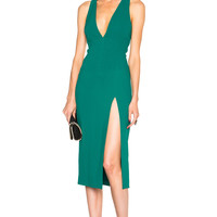 Cushnie et Ochs Stretch Cady Dress in Emerald | FWRD
