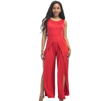 Rompers Womens 2018 New Sleeveless office work patchwork hollow out lace up plus size bodycon Overalls For female slim Jumpsuits