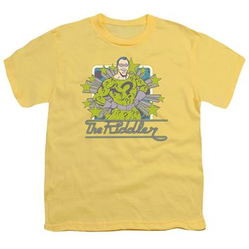 Dc - Riddler Stars Short Sleeve Youth 18/1 Shirt Officially Licensed T-Shirt