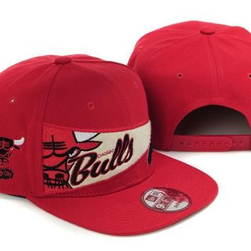 qiyif Chicago Bulls NBA 9FIFTY Cap Windy City Patch Red