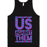 Us Against Them-Unisex Black Tank